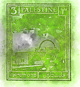 Palestine (British Mandate) pre 1948 stamp The green tomb of Rachel in Bethlehem