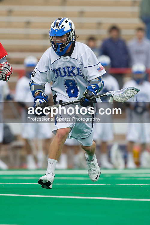 18 May 2008: Duke Blue Devils attackman Max Quinzani (8) during a 21-10 win over the Ohio State Buckeyes during the NCAA quarterfinals held at Cornell University in Ithaca, NY.