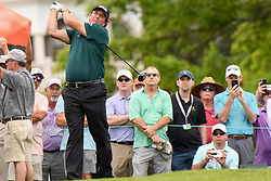 May 2, 2019 - Charlotte, NC, U.S. - CHARLOTTE, NC - MAY 02: Phil Mickelson tees off from the 15th box while onlookers watch and take photos with their cell phones during the first round of the Wells Fargo Championship at Quail Hollow on May 2, 2019 in Charlotte, NC. (Photo by William Howard/Icon Sportswire) (Credit Image: © William Howard/Icon SMI via ZUMA Press)