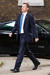 London, September 5th 2017. Health Secretary Jeremy Hunt attends the first UK cabinet meeting at Downing Street after the summer recess. ©Paul Davey