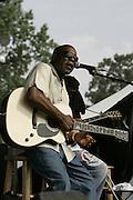 June 17, 2006; Manchester, TN.  2006 Bonnaroo Music Festival. Buddy Guy performs at Bonnaroo 2006.  Photo by Bryan Rinnert
