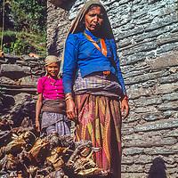 Thakali women in the Kali Gandaki Valley, Nepal.