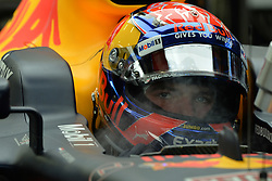 SINGAPORE, Sept. 16, 2017  Red Bull Racing Tag Heuer's Dutch driver Max Verstappen looks on during the third practice session of the Formula One Singapore Grand Prix in Singapore on Sept. 16, 2017. Max Verstappen posted the fastest time with 1:41.829 in the final and final practice ahead of qualifying later Saturday.  wll) (Credit Image: © Then Chih Wey/Xinhua via ZUMA Wire)