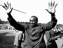 May 21, 1973; Kampala, Uganda; Field Marshall AL-HAJJ IDI AMIN DADA, president of the republic of Uganda. Born in 1920. Commissioned in 1961. Commander of the Army in 1966. Head of State since coup of 1971. (Credit Image: © Keystone Press Agency/Keystone USA via ZUMAPRESS.com)