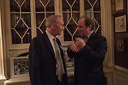 THE DUKE OF BUCCLEUCH; JAMES NAUGHTIE, The Walter Scott Prize for Historical Fiction 2015 - The Duke of Buccleuch hosts party to for the shortlist announcement. <br /> The winner is announced at the Borders Book Festival in Scotland in June.John Murray's Historic Rooms, 50 Albemarle Street, London, 24 March 2015.
