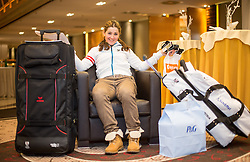28.01.2014,  Marriott, Wien, AUT, Sochi 2014, Einkleidung OeOC, im Bild Elisabeth Görgl (Ski Alpin, AUT) // Elisabeth Görgl (Ski Alpine, AUT) during the outfitting of the Austrian National Olympic Committee for Sochi 2014 at the  Marriott in Vienna, Austria on 2014/01/28. EXPA Pictures © 2014, PhotoCredit: EXPA/ JFK
