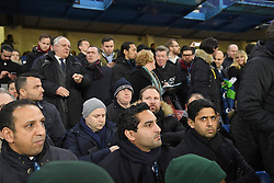 09.03.2016, Stamford Bridge, London, ENG, UEFA CL, FC Chelsea vs Paris Saint Germain, Achtelfinale, Rueckspiel, im Bild al khelaifi nasser // during the UEFA Champions League Round of 16, 2nd Leg match between FC Chelsea vs Paris Saint Germain at the Stamford Bridge in London, Great Britain on 2016/03/09. EXPA Pictures © 2016, PhotoCredit: EXPA/ Pressesports/ LAHALLE PIERRE<br /> <br /> *****ATTENTION - for AUT, SLO, CRO, SRB, BIH, MAZ, POL only*****