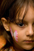 Belo Horizonte_MG, Brasil...Comemoracao do dia das criancas. Menina com o rosto pintado...The children day celebration.The girl with a painted face...Foto : VICTOR SCHWANER / NITRO