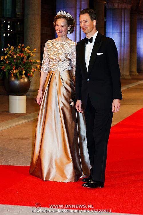 NLD/Amsterdam/20130429- Afscheidsdiner Konining Beatrix Rijksmuseum, princess Sophie and prince Alois of Liechtenstein