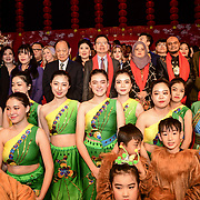 Minister Tong Xuejun (M) wearing glass attends the 2020 China-Britain Chinese New Year Extravaganza with 200 performers from over 20 art groups from both China and the UK showcase at Logan Hall on 18th January 2020, London, UK.