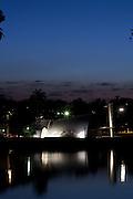 Belo Horizonte _ MG, 22 de Agosto de 2008..Imagens da regiao da Pampulha, em Belo Horizonte, para montagem de material promocional da empresa Rossi...Na foto: Igreja de Sao Francisco de Assis (Igrejinha da Pampulha), inaugurada em projeto arquitetonico da igreja e de Oscar Niemeyer e calculo estrutural de Joaquim Cardoso. E ainda possui um painel de Candido Portinari. ...Foto: BRUNO MAGALHAES / AGENCIA NITRO