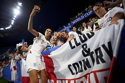 June 27, 2019 - Le Havre, France - Jill Scott (Manchester City WFC) of England celebrates victory after whit her fans the 2019 FIFA Women's World Cup France Quarter Final match between Norway and England at  on June 27, 2019 in Le Havre, France. (Credit Image: © Jose Breton/NurPhoto via ZUMA Press)