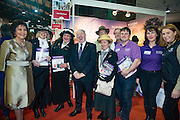 NO FEE PICTURES<br /> 23/1/16 Minister for Tourism Michael Ring and Maureen Ledwith, organiser of the Holiday World Show at the Visit Wexford stand at the Holiday World Show at the RDS in Dublin. Picture: Arthur Carron