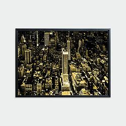 Manhattan # 01, New York • Original photographic work by Antoine Duhamel • Direct print on brushed brass.
