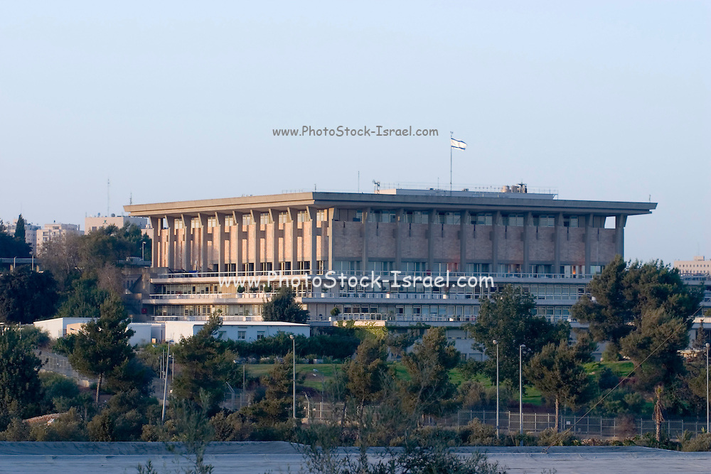 Israel, Jerusalem, The Knesset, Israeli parliament. A view from the Israel Museum, september 2006