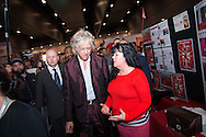 20th International AIDS Conference (AIDS 2014). International AIDS Society, at the Exhibition Centre, Melbourne, Australia. <br /> Photo shows Sir Bob Geldof walking around the Global Village.<br /> Photo: International AIDS Society/Steve Forrest