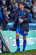 Gillingham FC midfielder Billy Bingham (16) during the EFL Sky Bet League 1 match between Gillingham and Scunthorpe United at the MEMS Priestfield Stadium, Gillingham, England on 16 February 2019.