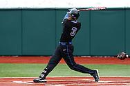 21 February 2015: Duke's Justin Bellinger. The Duke University Blue Devils hosted the University of Hartford Hawks in an NCAA Division I Men's baseball game at Jack Coombs Field in Durham, North Carolina. Duke won the game 5-1.