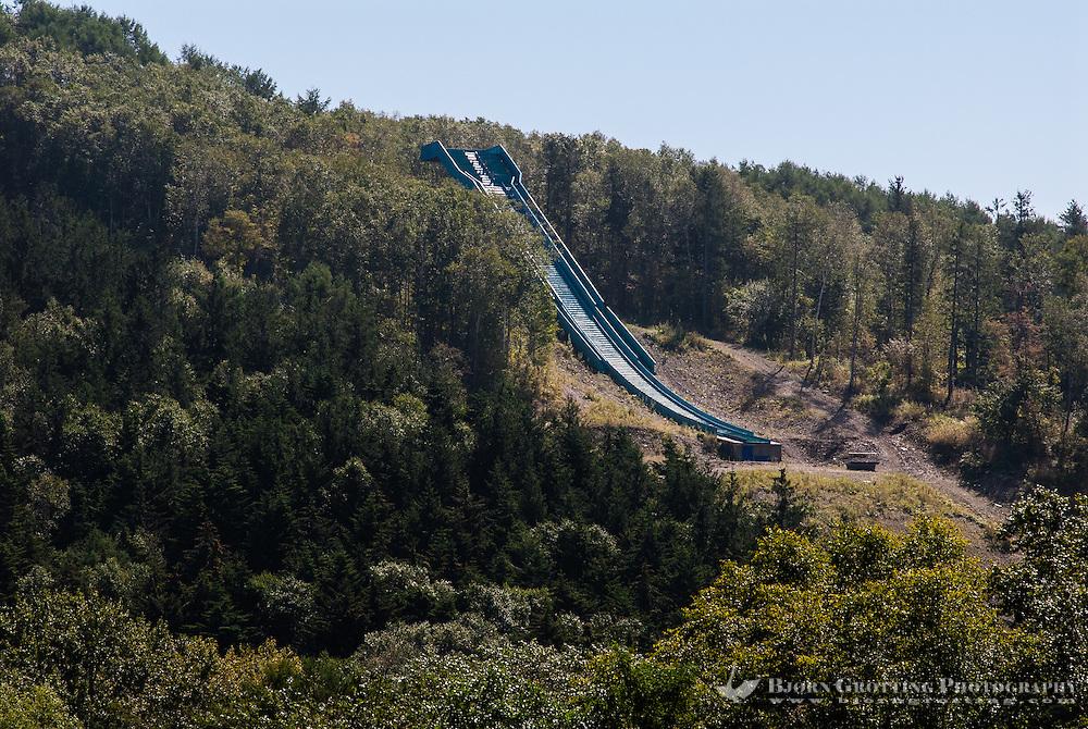 Russia, Sakhalin, Yuzhno-Sakhalinsk. Ski jumping hill.