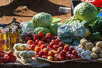 Fresh produce for sale at an informal street market, Limpopo floodplain, Maputo Province, Mozambique