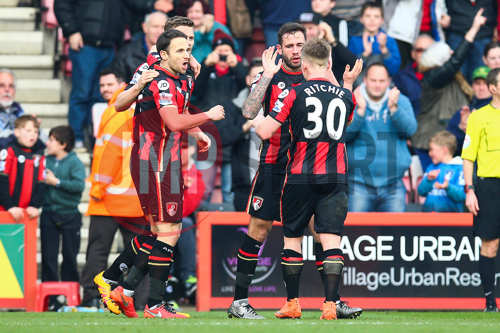 Goal, Steve Cook of Bournemouth scores, Bournemouth 3-2 Swansea City - Mandatory by-line: Jason Brown/JMP - Mobile 07966 386802 12/03/2016 - SPORT - FOOTBALL - Bournemouth, Vitality Stadium - AFC Bournemouth v Swansea City - Barclays Premier League