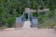 Israel, Carmel Mountain, a 70 meter suspension bridge in the Nesher Park