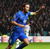 05/11/15 UEFA EUROPA LEAGUE GROUP STAGE<br /> CELTIC v MOLDE FK<br /> CELTIC PARK - GLASGOW<br /> Molde's Daniel Hestad celebrates his goal