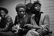 Aswad backstage at the Rock For Jobs concert 1981