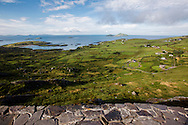 Farms and fields on the edge of the Ring of Kerry, County Kerry, Ireland