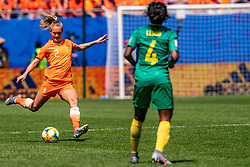 15-06-2019 FRA: Netherlands - Cameroon, Valenciennes<br /> FIFA Women's World Cup France group E match between Netherlands and Cameroon at Stade du Hainaut / Desiree van Lunteren #2 of the Netherlands