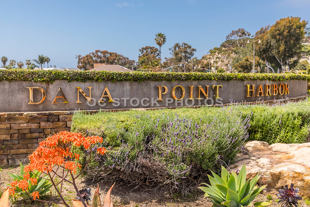 Dana Point City Monument at the Harbor at the Corner of Dana Point Harbor Dr and Golden Lantern Street