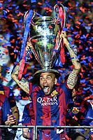 Dani Alves Celebration Esultanza  <br /> Berlino 06-06-2015 OlympiaStadion  <br /> Juventus Barcelona - Juventus Barcellona <br /> Finale Final Champions League 2014/2015 <br /> Foto Matteo Gribaudi/Image Sport/Insidefoto
