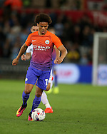 Leroy Sane of Manchester city in action. .EFL Cup. 3rd round match, Swansea city v Manchester city at the Liberty Stadium in Swansea, South Wales on Wednesday 21st September 2016.<br /> pic by  Andrew Orchard, Andrew Orchard sports photography.