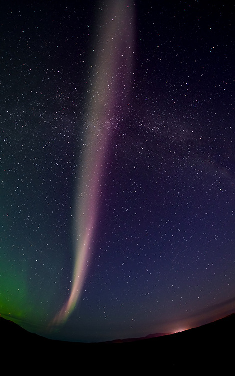 When they come out, you don't have to go far to see the Northern Lights in the Yukon