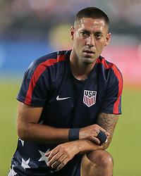 July 19, 2017 - Philadelphia, PA, USA - Philadelphia, PA - Wednesday July 19, 2017: Clint Dempsey during a 2017 Gold Cup match between the men's national teams of the United States (USA) and El Salvador (SLV) at Lincoln Financial Field. (Credit Image: © John Dorton/ISIPhotos via ZUMA Wire)