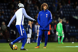 18 November 2017 -  Premier League - West Bromwich Albion v Chelsea - David Luiz of Chelsea looks on during the warm up hands in pockets - Photo: Marc Atkins/Offside