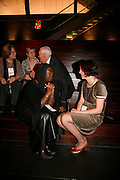 Ruth Petrie, Ruth Borwick and Wedgewood Benn. Below: Delia Jarrett-Macauley and Claire Allistone. Freedom of Expression Awards 2006. Bloomberg HQ. City Gate House. Finsbury Sq. London. 22 March 2006. ONE TIME USE ONLY - DO NOT ARCHIVE  © Copyright Photograph by Dafydd Jones 66 Stockwell Park Rd. London SW9 0DA Tel 020 7733 0108 www.dafjones.com