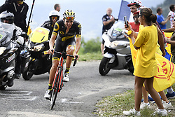 July 8, 2017 - Station Des Rousses, FRANCE - French Lilian Calmejane of Direct Energie pictured in action during the eighth stage of the 104th edition of the Tour de France cycling race, 187,5km from Dole to Station des Rousses, France, Saturday 08 July 2017. This year's Tour de France takes place from July first to July 23rd. BELGA PHOTO YORICK JANSENS (Credit Image: © Yorick Jansens/Belga via ZUMA Press)