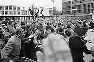 1960..Marseille,<br /> A friendly crowd of French communists<br /> breaks through security causing major<br /> panic with Khrushchev's security men<br /> as they were not prepared for a joyous outpouring such as this. They rushed Khruschev in the first car they could find and was send off. <br /> NOTE: The Russian journalists and photographers who were with us, turned around and acted as  temporary bodyguards,a very unusual <br /> happening.<br /> <br /> 1960. Marseille, France<br /> Une foule amicale des communistes français perce la sécurité causant une<br /> panique chez les hommes de la sécurité de Khrouchtchev, mal préparés pour une effusion de joie comme celle-ci . Ils ont précipités Khruschev dans la première voiture qu'ils ont pu trouver sont partis. <br /> NOTE : Les journalistes russes et les photographes qui étaient avec nous , se sont retournes et ont agis comme gardes du corps temporaires, une fonction très inhabituel pour eux.