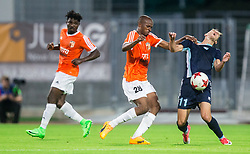 Mohamed Kaba of Shirak vs Andrija Filipovic of Gorica during 2nd Leg football match between ND Gorica and FC Shirak in 1st Qualifying Round of UEFA Europa League 2017/18, on July 6, 2017 in Nova Gorica, Slovenia. Photo by Vid Ponikvar / Sportida