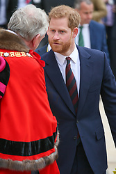 Prince Harry, Duke Of Sussex visiting the Guildhall for the Lord Mayor's Big Curry Lunch - London. 04 Apr 2019 Pictured: Prince Harry Duke Of Sussex. Photo credit: mega TheMegaAgency.com +1 888 505 6342