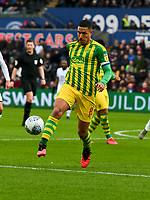 Football - 2019 / 2020 Sky Bet (EFL) Championship - Swansea City vs. West Bromwich Albion<br /> <br /> Jake Livermore of WBA on the attack, at The Liberty Stadium.<br /> <br /> COLORSPORT/WINSTON BYNORTH