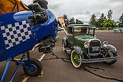 1929 Fleet Model 2 and old Ford at Wings and Wheels at Oregon Aviation Historical Society.