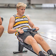 Joe Harcourt U14 1K Race #12  12:00pm<br /> <br /> www.rowingcelebration.com Competing on Concept 2 ergometers at the 2018 NZ Indoor Rowing Championships. Avanti Drome, Cambridge,  Saturday 24 November 2018 © Copyright photo Steve McArthur / @RowingCelebration