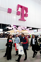 T-Mobile stall at CeBIT 2011 digital and electronics trade fair in Hannover March 2011 Germany