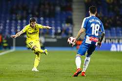January 17, 2019 - Barcelona, Catalonia, Spain - Miguelon (15) of Villarreal CF during the match RCD Espanyol v Villarreal CF, for the round of 16 of the Copa del Rey played at Camp Nou  on 17th January 2019 in Barcelona, Spain. (Credit Image: © Mikel Trigueros/NurPhoto via ZUMA Press)