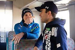 Domen Prevc and Jernej Damjan during  press conference of Ski jumping Planica 2019, on March 20, 2019, in Slovenian railways, Slovenia. Photo by Matic Ritonja / Sportida
