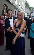 STEVEN EICKHOFF; ANNA EICKHOFF, Otello at the Grosses Festspielhaus and afterwards  Gala dinner at the Donald Kahn lounge.  Salzburg.  Amadeus Weekend. Salzburg. 24 August 2008.  *** Local Caption *** -DO NOT ARCHIVE-© Copyright Photograph by Dafydd Jones. 248 Clapham Rd. London SW9 0PZ. Tel 0207 820 0771. www.dafjones.com.