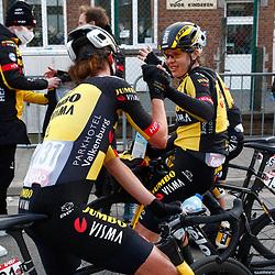 14-03-2021: Wielrennen: GP Oetingen: Oetingen: Elisa Balsamo wint in Oetingen voor Jolien D'hoore en Marianne Vos