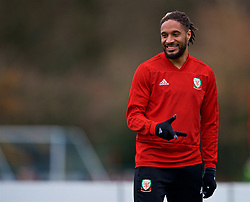 CARDIFF, WALES - Monday, November 19, 2018: Wales' captain Ashley Williams during a training session at the Vale Resort ahead of the International Friendly match between Albania and Wales. (Pic by David Rawcliffe/Propaganda)